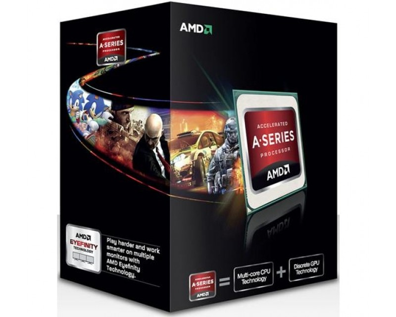 AMD A8-5600K Trinity Quad-Core 3.6GHz (3.9GHz Turbo) Socket FM2 100W Desktop APU (CPU + GPU) with DirectX 11 Graphic AMD Radeon HD 7560D AD560KWOHJBOX