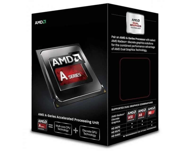 AMD A6-6400K Richland Dual-Core 3.9GHz Socket FM2 65W Desktop Processor - Black Edition AMD Radeon HD AD640KOKHLBOX