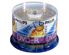 PHILIPS 4.7GB 16X DVD-R 50 Packs Disc