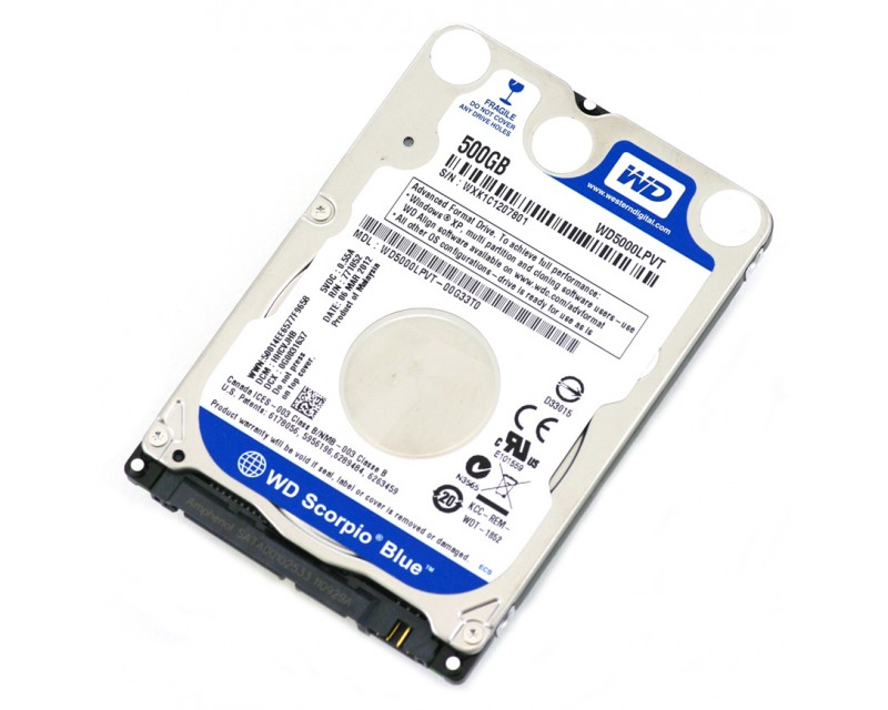 "WD Blue WD5000LPCX 500GB 5400 RPM 8MB Cache SATA 6.0Gb/s 2.5"" Internal Notebook Hard Drive"