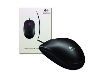 Logitech Optical USB Mouse B100 (910-001439) Black 3 Buttons 1 x Wheel USB Wired Optical 800 dpi Mouse