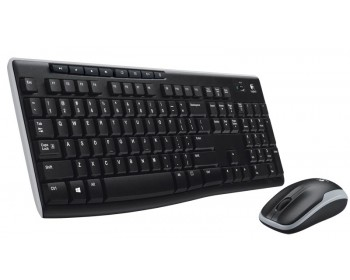 Logitech Wireless Combo MK270 920-004536 Black 8 Function Keys USB 2.0 RF Wireless Keyboard & Mouse