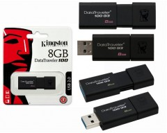 Kingston DataTraveler 100 G3 8GB USB 3.0 Flash Drive Model DT100G3/8GB