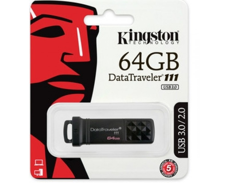Kingston DataTraveler 111 64 GB USB 3.0 Flash Drive - 1 Pack  DT111/64GB