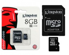Kingston 8GB microSDHC Flash Card Model SDC10/8GBSP