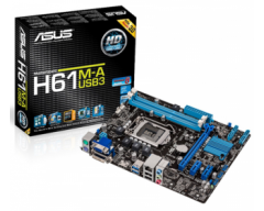 ASUS H61M-A/USB3 LGA 1155 Intel H61 HDMI USB 3.0 Micro ATX Intel Motherboard with UEFI