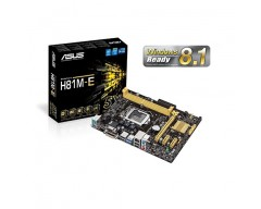 ASUS H81M-E LGA 1150 Intel H81 SATA 6Gb/s USB 3.0 Micro ATX Intel Motherboard  ASUS 5X Protection, New UEFI BIOS, USB 3.0 Boost