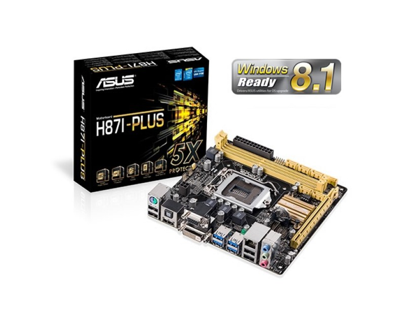 ASUS H87I-PLUS LGA 1150 Intel H87 HDMI SATA 6Gb/s USB 3.0 Mini ITX Intel Motherboard With UEFI BIOS