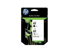 HP 61 Black & Tri-colour Original Ink Cartridges, 2 pack (CR259FN)