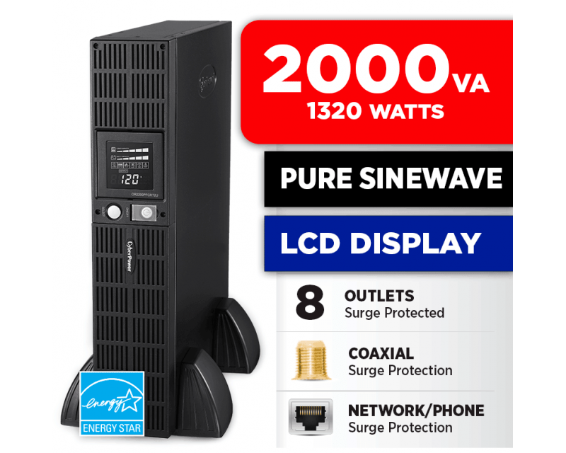CyberPower OR2200PFCRT2U 2000 VA 1320w 8 Outlets UPS