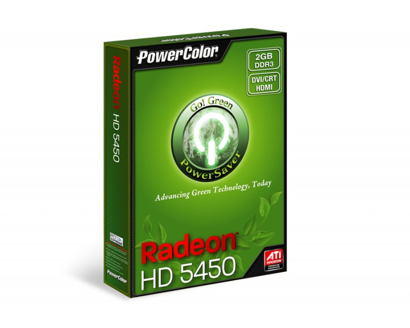 PowerColor Go! Green AX5450 2GBK3-SH Radeon HD 5450 2GB 64-Bit DDR3
