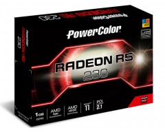 PowerColor AMD Radeon R5 230 1GB DDR3 VGA/DVI/HDMI Low Profile PCI-Express Video Card  AXR5 230 1GBK3-HE