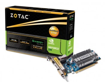 ZOTAC  GeForce 210 1GB ZT-20314-10L   32-Bit DDR3 PCI Express 2.0 x16 HDCP Ready Plug-in Card Video Card